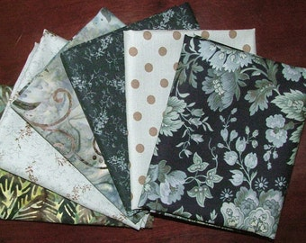 LAST ONE Snowbird Fat Quarter Bundle of 6 by Edyta Sitar of Laundry Basket Quilts for Moda
