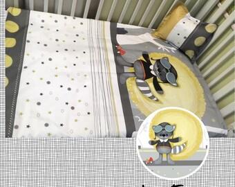 baby bedding racoon ,Baby Bedding, raccoon, baby nursery