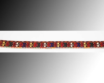 1 Uzbek silk handmade  embroidered  peshkurta vintage collar trim for women's robes decoration  home decor