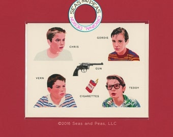 STAND BY ME - A Field Guide - River Phoenix - Corey Feldman - Wil Wheaton - Jerry O'Connell - Stephen King - Pop Culture Card - Item# FG012