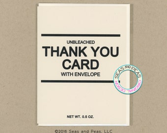 GENERIC THANK YOU Card - Funny Greeting Card - Thank You Card - Greeting Card - Funny Card - Card for Friend - Funny Thank You - Item# S036