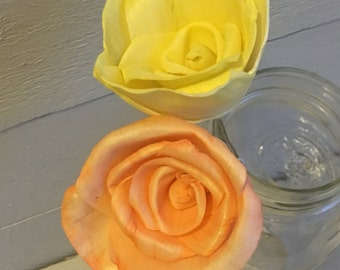 Sola Roses Flowers - set of 12 - stemmed - Yellow or Orange