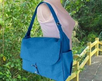 Holiday On Sale 10% off blue diaper bag, messenger bag, crossbody bag, shoulder bag, tote bag for girls