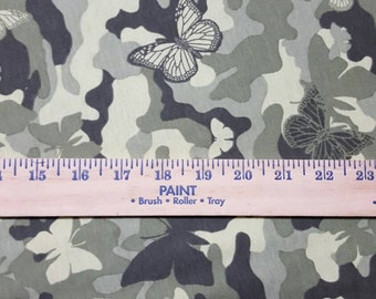 Camo Butterfly cotton jersey.