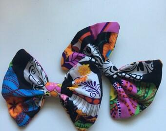 Day of the dead detachable flip flop bows