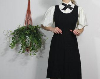 Black Dress Vintage 60s Little Black Dress Fit and Flare