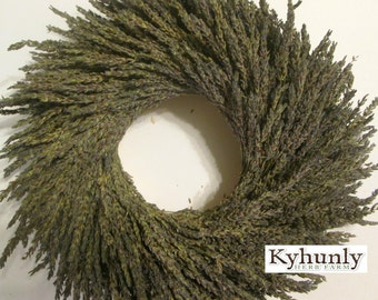 Dried French Lavender Wreath // 14 inch // Made To Order // FREE SHIPPING