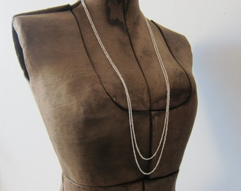 Braided Layered Chain Necklace