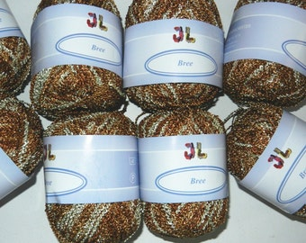 8 balls Boucle Fancy Bree Yarn color 703 shimmering soft and silky