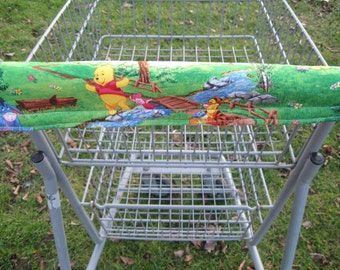 Shopping Cart Cover, Cart Handle Cover, Cart Cover, Shopping Cart Covers, Winnie the Pooh Print Cart Cover, Shopping,  Handy Cart Cover