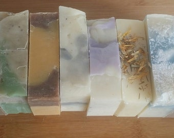 5 (Five) Soap Pack Mix, 5  Handmade All Natural Soap Bars, Soap Gift Pack of 5 handmade soaps, Housewarming,