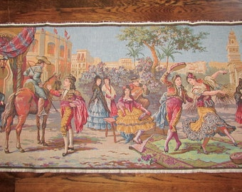 Vintage Tapestry Wall Hanging Made in Belgium