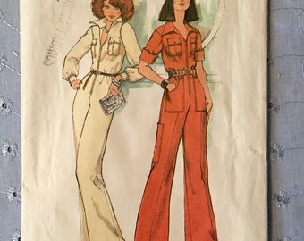 7310 Simplicity Pattern / 1970's Jumpsuit Sewing Pattern / Vintage Sewing / Retro Jumpsuit / Sewing