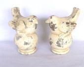 SHABBY BIRD FINIALS/ Pair