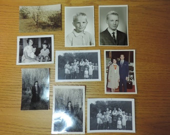 Old Black and White Photos. 1960's 1970's People Photos  Vintage Family photos