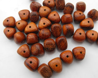 Wooden Funky Trianlge Beads 36 Pieces
