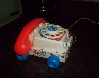 Fisher Price Telephone Pull Toy #747, dated 1961!  Works!!