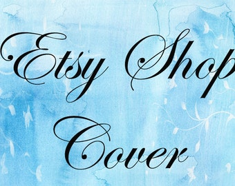 Etsy Shop Cover, Banner, Premade, Avatar, Business Card, Thank You Sticker, Blue