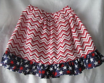Patriotic Toddler Skirt Size 2T