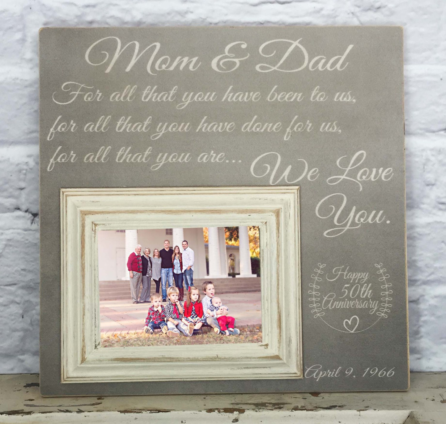 50th anniversary gifts wedding gifts for parents 50th Anniversary Gift Picture Frame 50th Wedding For All That You Have Been To Us Gifts for Parents Parents Anniversary Gift Frame