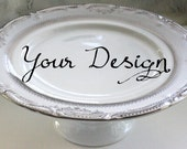 Silver or Gold Custom Wedding Cake Stand, Personalized Cake Stand, Bespoke Cupcake Stand, Monogram Tray, Tidbit Tray, Design Your Cake Stand