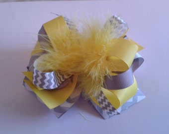 Large layered  boutique  hair bow