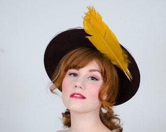 30% OFF SALE / 1940s vintage hat / wool hat / Milgrim