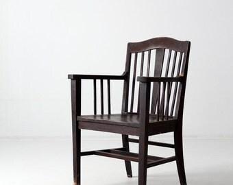 SALE antique Arts & Crafts wood chair