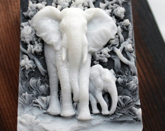 ELEPHANT SOAP, Under a Mothers Protection - The Original by TCF- Scented in White Lily & Amber, Vegetable Based Soap