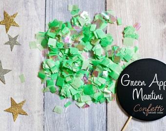 Green Apple Martini Confetti Wand