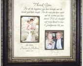 Grandparents Gift, Personalized Wedding Frame Gift, Wedding Gift Grandparents, Grandparents Thank You Gift for Grandmother Grandfather 16x16