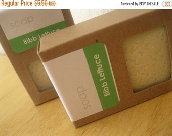 ON SALE Handmade VEGAN Soap Bar - Bibb Lettuce - Hot Process Soap with Cocoa Butter