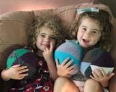 Wool Baby Ball / Indoor Winter Play / Valentines Day Gift /Waldorf Montessori Baby Toddler Kids Boys Girls Easter Basket Gift