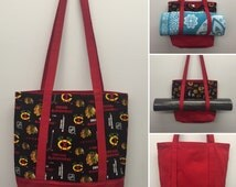 Chicago Blackhawks  Carry All Tote and Yoga Carrier_Red Canvas