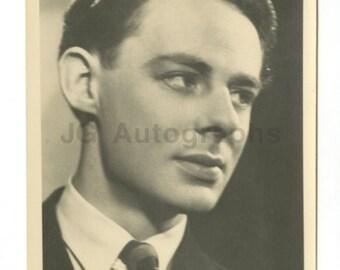 Alec Clunes - English Actor - Vintage Real Photo Postcard (rppc)