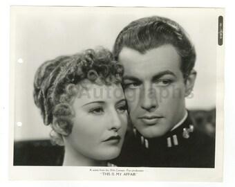 "This Is My Affair"" - 1937 Crime Film - Vintage 8x10 Photograph"
