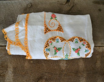 Vintage hand stitched table cloth