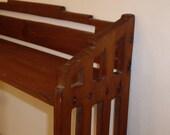Vintage Handmade Wood Display Shelf // Mission Wood Shelf // Western Wood Shelf