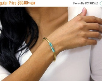 SUMMER SALE - turquoise bracelet,December birthstone,gold bracelet,gold beaded bangle,tube bridal bracelet