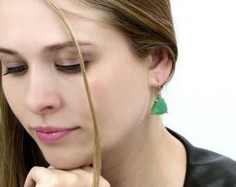 SUMMER SALE - Green Aventurine earrings,gold earrings,gold stone earrings,precious earrings,green earrings,dangle earrings