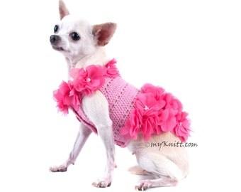 Dog Dress Pink Dog Clothes XXS Beach Summer Pet Clothing Puppy Clothes Chihuahua DF14 Myknitt - Free Shipping