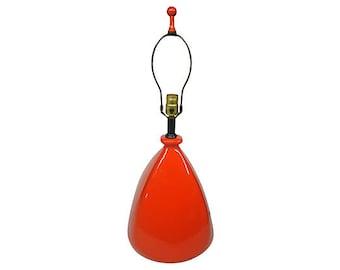 Mid-Century Modern Lamp, Orange Ceramic BiG and BOLD