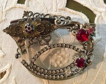 Cat-eye VINTAGE Jeweled Eyeglass Brooch - EYE Wear Collage JEWELRY