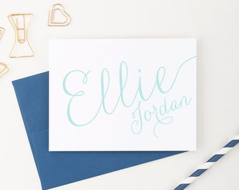 Personalized stationery set // Monogram Stationery // personalized stationary // Choose your colors, PS007