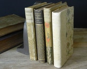 Collection of Little Antique Books. Poetry and Literature. Victorian Library. Circa 1890.