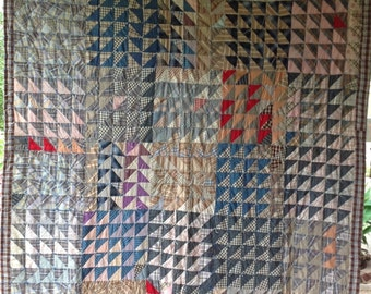 Amazing FLYING GEESE Antique Vintage Quilt EXCELLENT Shape