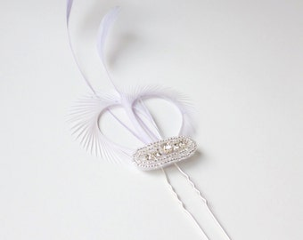 Purple Hair Pin, Lilac Fascinator, Light Purple Fascinator, Bridesmaid Gift, Bridal Party Purple, Purple Hair Accessories, Black Hair Pin