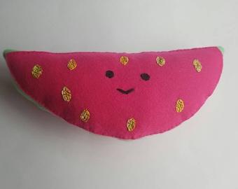 Felt Happy Watermelon Plush Toys/Decor - Kawaii Style!