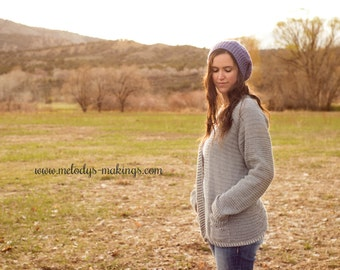 Crochet Woman's Cardigan Pattern - Spring Cardigan Crochet Pattern - Crochet Cardigan Pattern - Woman's Clothing Crochet Pattern