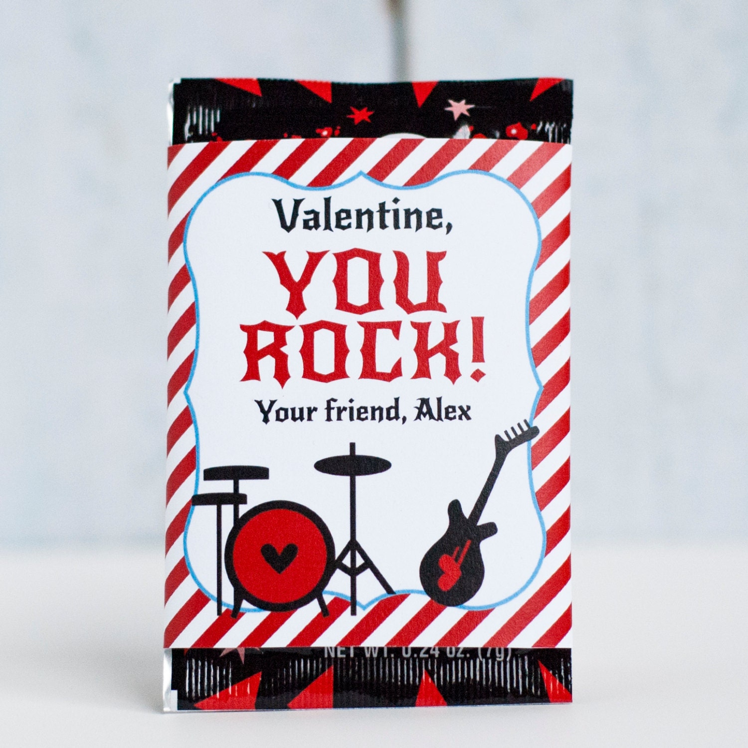 This is an image of Remarkable You Rock Valentine Printable